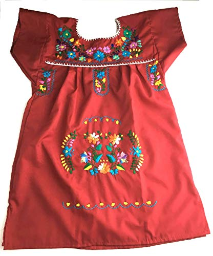 Mexican Dress Red Size 4 Tehuacan Dress Day