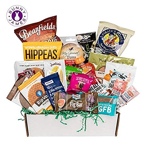 Healthy Snacks Sampler Gift Box: Variety Of Sweet & Savory Gourmet Food Snacks Care Package