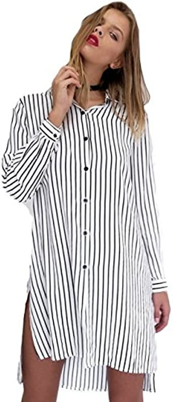 Camisa Vestido, neartime Niñas Caliente manga larga rayas ...