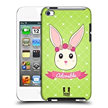 Head Case Designs Adorable Sofie The Bunny Hard Back Case for Apple iPod Touch 4G 4th Gen