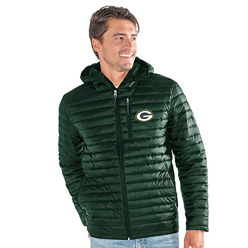 G-III Sports NFL Green Bay Packers Equator Quilted Jacket, Large, Green from G-III Sports