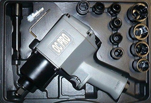 Druckluft Schlagschrauber 1/2 Zoll, 850 NM inkl. Bits und Verlängerung