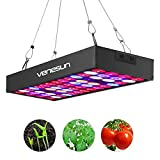 LED Grow Light 36W Venesun Full Spectrum Panel with Red Blue Orange White IR UV Plant Growing Lamps for Indoor Hydroponics Plants Seedling/Veg/Flowering/Blooming