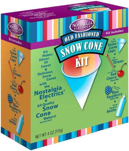 Nostalgia Electrics SCK800 Snow Cone Kit by Nostalgia (Accessories Sno Cone)