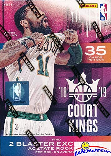 2018/19 Panini Court Kings NBA Basketball Factory Sealed Retail Box with (2) EXCLUSIVE ACETATE ROOKIE Cards! Look for Rookies & Autos of Trae Young, Luka Doncic, Deandre Ayton & More! WOWZZER!