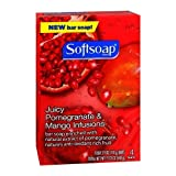 Softsoap Juicy Pomegranate and Mango Infusions Bar Soap, 3.9 oz, 4 Count Review