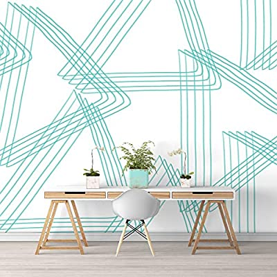 Nwt Wall Murals For Bedroom Abstract Geometric Lines Removable Wallpaper Peel And Stick Wall Stickers 100 X144 Buy Online At Best Price In Uae Amazon Ae