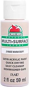 Apple Barrel Multi Surface Acrylic Paint, 2 oz, Warm Buff 2 Fl Oz