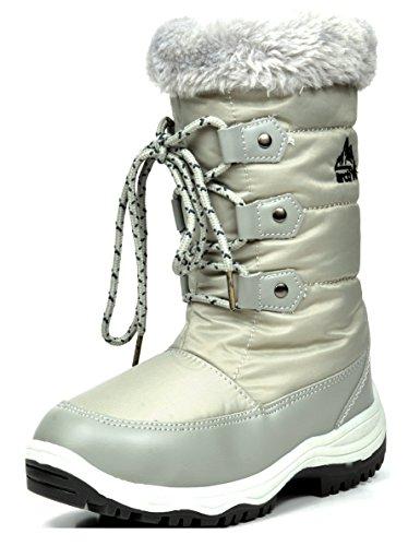 arctiv8 Big Kid Nordic Grey Knee High Winter Snow Boots Size 5 M US Big Kid - Nordic Kids Boots