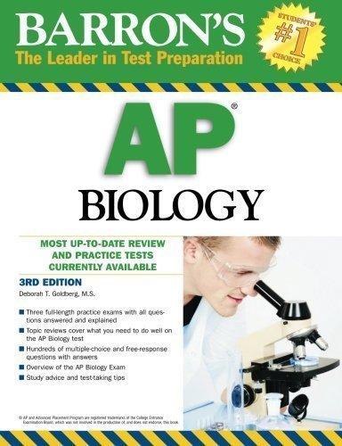 Barron's AP Biology 3rd edition by Goldberg M.S., Deborah T. (2010) Paperback