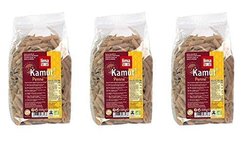 (PACK de 3) - Lima Kamut Penne - Organic| 500 g |3 PACK - SUPER SAVER - économisez de l'argent