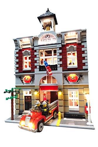 Brick Loot Fire Brigade Lighting Kit for set 10197 Set
