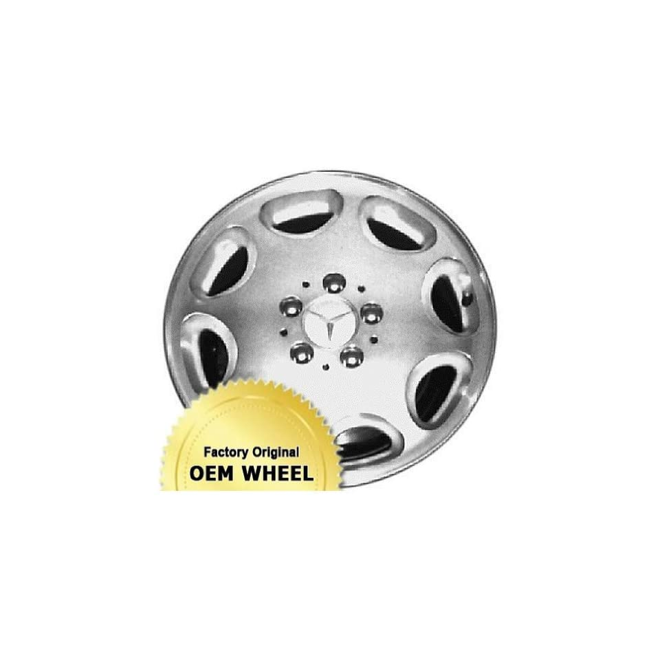MERCEDES E300D,E320,E420,E430,E CLASS 16X7.5 8 HOLE Factory Oem Wheel Rim  MACHINED FACE SILVER   Remanufactured Automotive