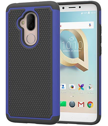 T-Mobile Revvl 2 Plus Case,Alcatel 7 Case,Alcatel 7 Folio Case,Asmart Drop Protection Tmobile Revvl 2 Plus Case Armor Defender Cover Dual Layer Protective Phone Case for T-Mobile Revvl 2 Plus (Blue)