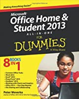 Microsoft Office Home & Student 2013 All-in-One For Dummies Front Cover