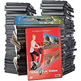 Virtual Cycle DVD Supersale Collection - 41 Disc Set for Indoor Cycling Workouts - Jog Run Walk Exercise Fitness Motivation