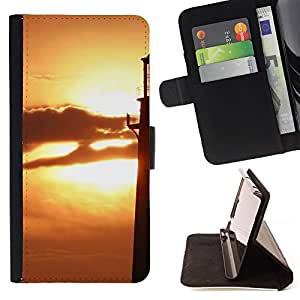 Jordan Colourful Shop - Sunset Beautiful Nature 74 For Sony Xperia Z3 D6603 - Leather Case Absorci???¡¯???€????€?????????&