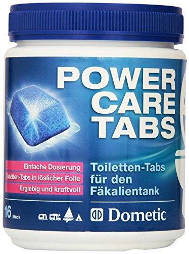Dometic Power-Care Tabs fürs Camping-WC: Hochwirksamer Sanitär-Reiniger für ihre Chemie-Toilette. Zersetzt Fäkalien und verhindert unangenehme Gerüche. Die einfache Alternative zu Sanitär-Flüssigkeit.