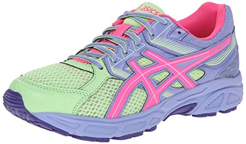 ASICS Gel Contend 3 GS Running Shoe (Little Kid/Big Kid), Pistachio/Hot Pink/Lavender, 1.5 M US Little Kid