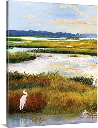 Salt Marsh Sanctuary I Canvas Wall Art Print