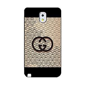 luxury gucci logo phone case fashion design phone case Snap on Samsung Galaxy Note 3 N9005 gucci logo