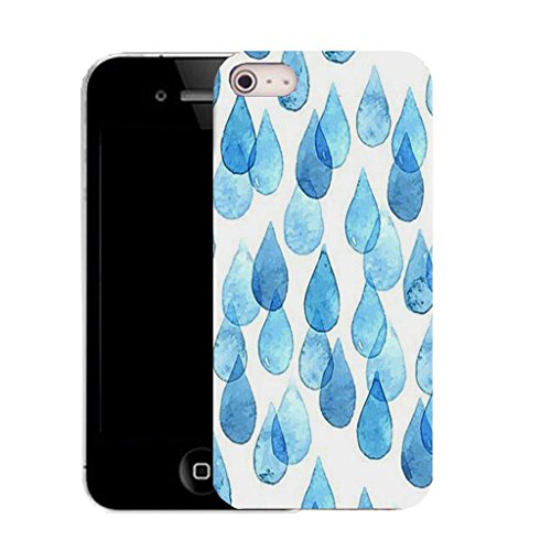 Mobile Case Mate iPhone 5c clip on Silicone Coque couverture case cover Pare-chocs + STYLET - blue raindrops pattern (SILICON)