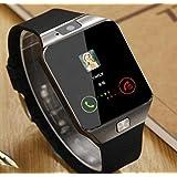 ブルートゥーススマートウォッチ 時歩数計 カロリー計 健康モニター 睡眠検測 カメラ SIM カード For Android IOS Phonesブラック (black)