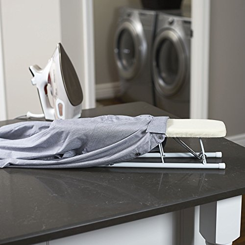 Compact Small Tabletop Sleeve Ironing Board Steel Top