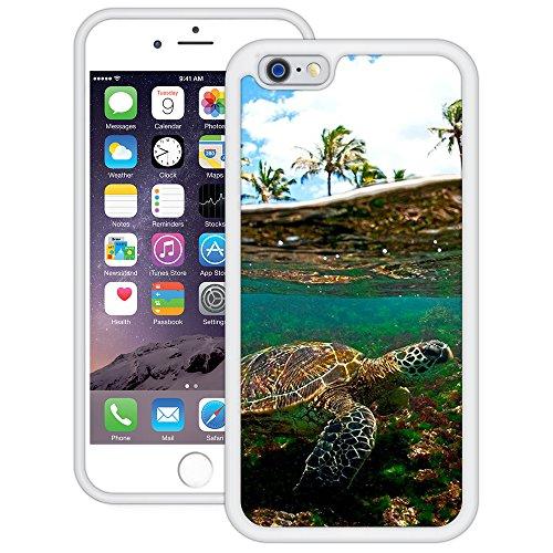 Meeresschildkröte | Handgefertigt | iPhone 6 6s (4,7') | Weiß TPU Hülle