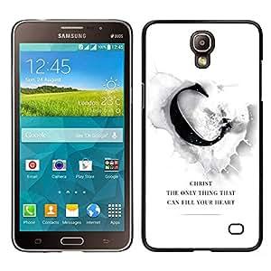 LECELL--Funda protectora / Cubierta / Piel For Samsung Galaxy Mega 2 -- BIBLIA Chirst puede llenar su corazón --