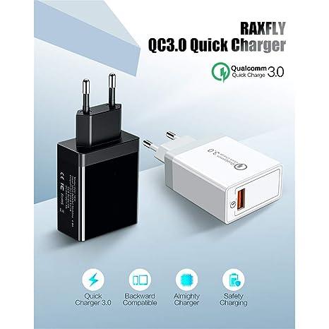 USB teléfono de Carga Enchufe Cargador rápido Dual Port QC 3 ...