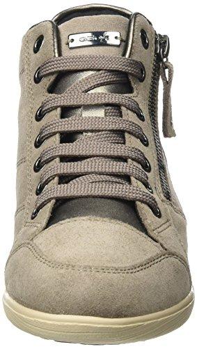 Geox D Myria C, Sneaker a Collo Alto Donna Beige (Taupe)