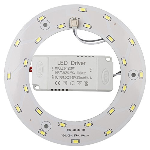Ledy 12w 5730 SMD Led Panel Ceiling Light Fixtures Circle Annular Round Replacement Board Bulb (Warmwhite 3000-3500k)