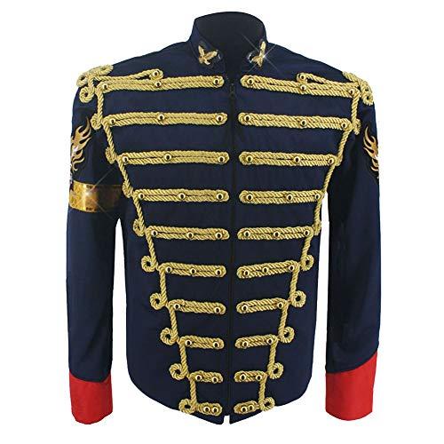 MJ Michael Jackson Costume Jacket Dark Blue Military