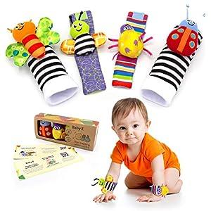 BABY K Foot Finder Socks & Wrist Rattles Newborn Toys