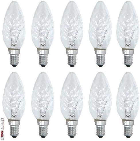 10 x Glühbirne Kerze 25W E14 klar Glühlampe 25 Watt Glühbirnen Glühlampen Kerzen