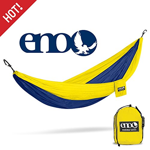 Eagles Nest Outfitters - ENO DoubleNest Hammock, Portable Hammock for Two, Sapphire/Yellow (FFP)