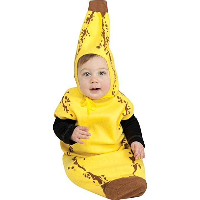 Lil Banana Bunting Baby Costume  sc 1 st  Amazon.com : banana costume infant  - Germanpascual.Com
