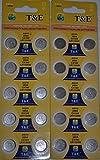 20 Pcs New LR1130W/AG10/389ACX189 1.55V Coin Button Batteries