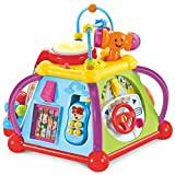 leap frog activity center - Educational Activity Baby Play Center Station With Lights And Sounds Includes Batteries - Learning And Discovery Musical Playmat Table or Floor Toy For Little Toddlers Babies Kids Children
