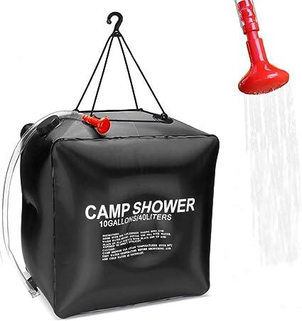 Sunshine smile Solar Shower Bag with Shower Head Solar Heated Shower Bag Solar Shower Bag Shower Bag for Camping Hiking Climbing Outdoor Bathing Bag
