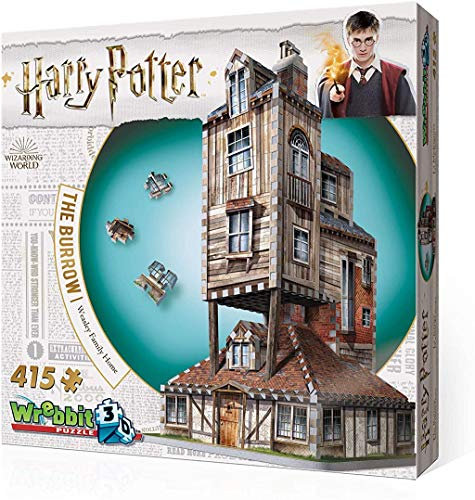 Wrebbit 3D - Harry Potter The Burrow Weasley Family Home 3D Jigsaw Puzzle - 415Piece
