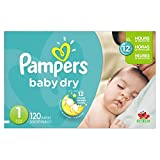 Health & Personal Care : Pampers Baby Dry Newborn Diapers Size 1, 120 Count