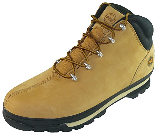Timberland Mens Splitrock PRO Lace up Leather Work Safety Boot Beige (Wheat)