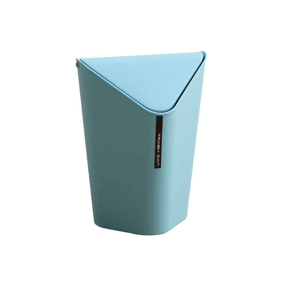 Kitchen Waste Bins Creative Triangle Plastic Trash Bin Bedroom Trash Can Wiht Lid 9 8 X 9 8