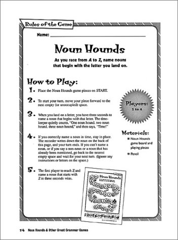 Amazon.com: Noun Hounds and Other Great Grammar Games: 20 Fun and ...