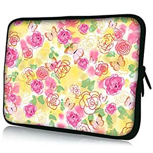 "Nsaneoo - Flowers Pattern 7""/10""/13"" Laptop Sleeve Case for MacBook Air Pro/Sony/Google Nexus/Ipad Mini/Galaxy Tab2 18054 , 10"""
