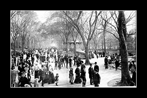 8 x 10 All Wood Framed Photo The Old Bandstand, Central Park 1900