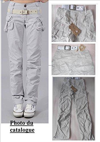 Pantalon Battle Marron ou Gris Femme NEUF