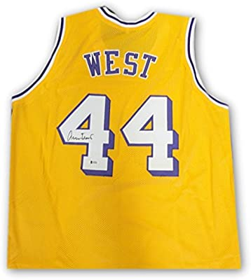 02c5c6d3ed8 Jerry West Hand Signed Autographed  44 Yellow Jersey Los Angeles Lakers  Beckett